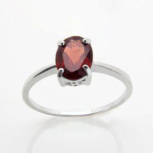 Genuine Garnet Sterling Silver Ring